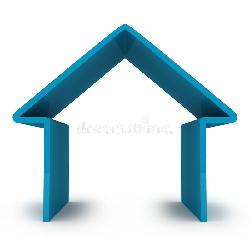 Abstract house stock illustration