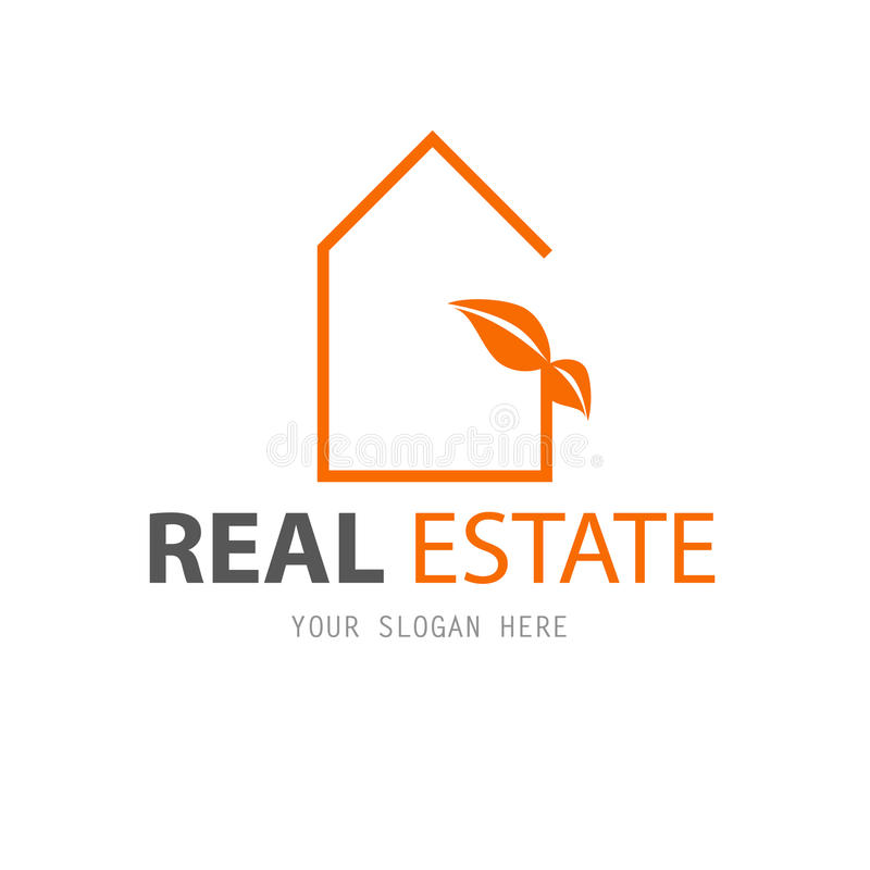 Abstract house logo design template vector illustration