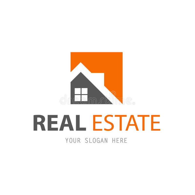 Abstract house logo design template stock illustration