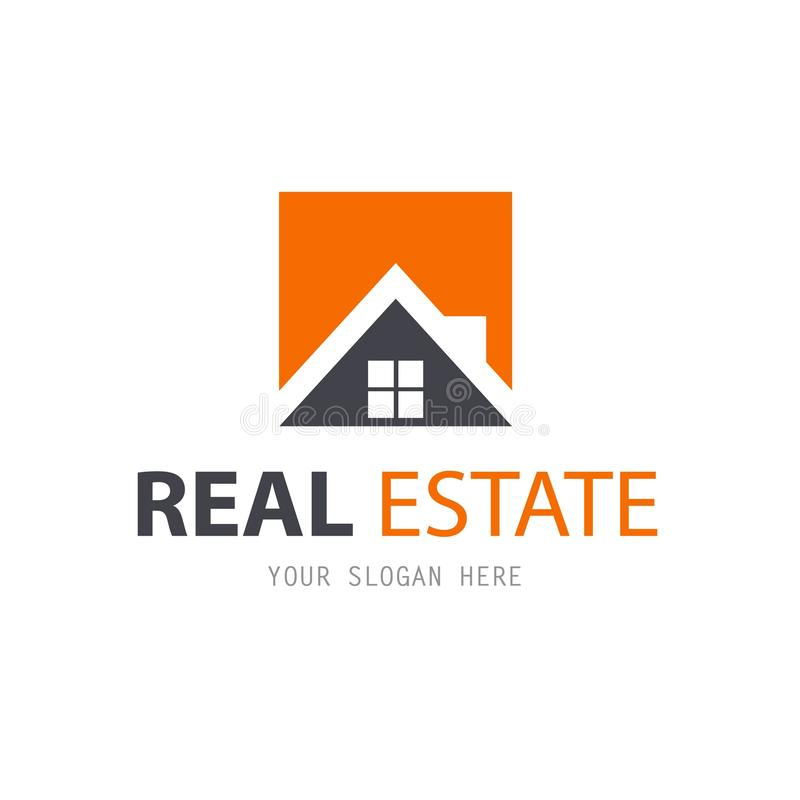 Abstract house logo design template. Real Estate royalty free illustration