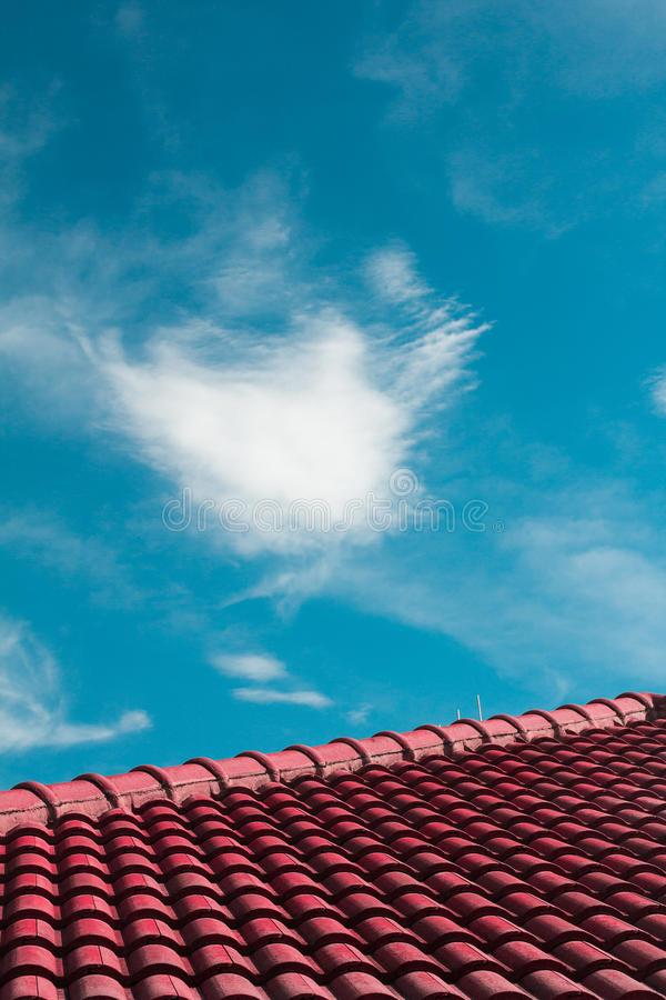 Abstract House Roof stock image