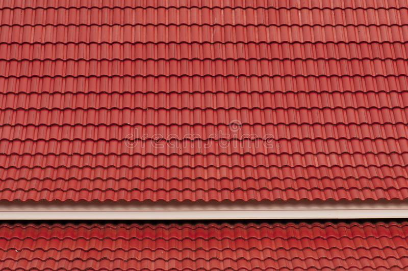 Abstract house roofs tiles new styles.  royalty free stock image