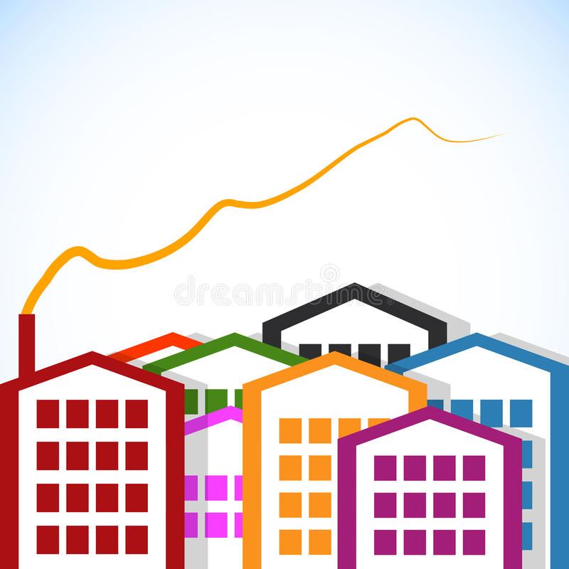 Download Abstract houses. stock vector. Image of industry, fantasy - 24626170