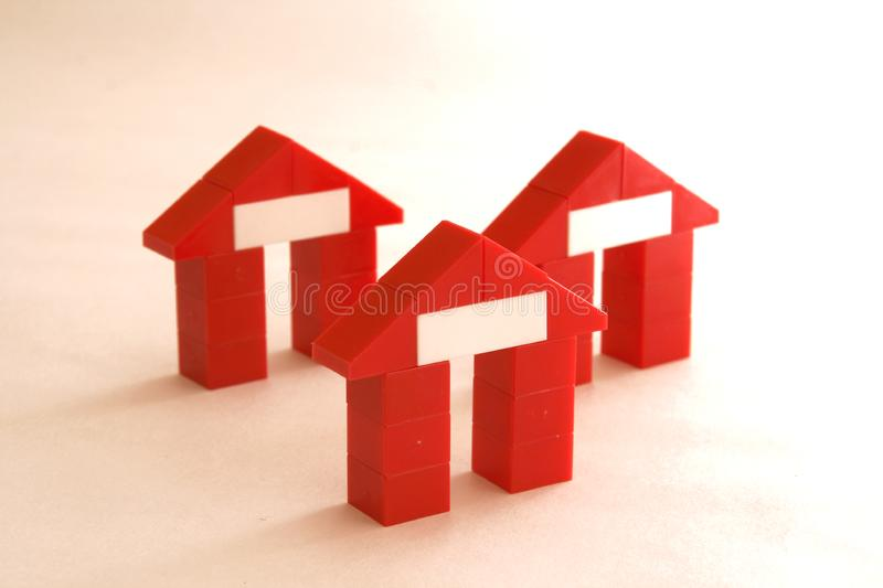 Abstract houses stock image