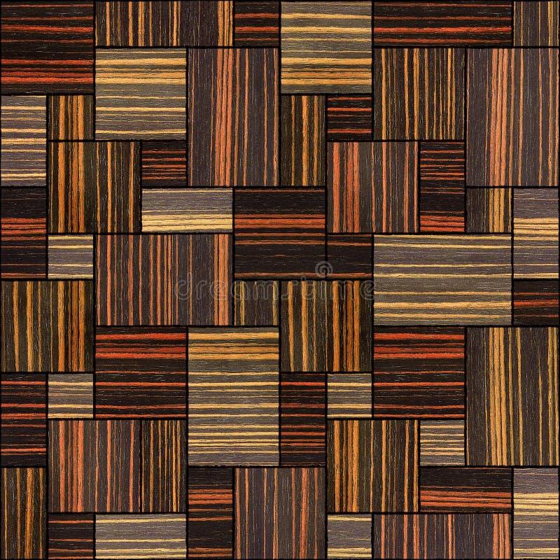 Abstract houten het met panelen bekleden patroon - naadloze achtergrond - Ebbehout royalty-vrije stock fotografie