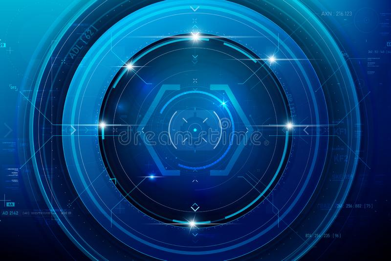 Abstract HUD technology background 002 vector illustration