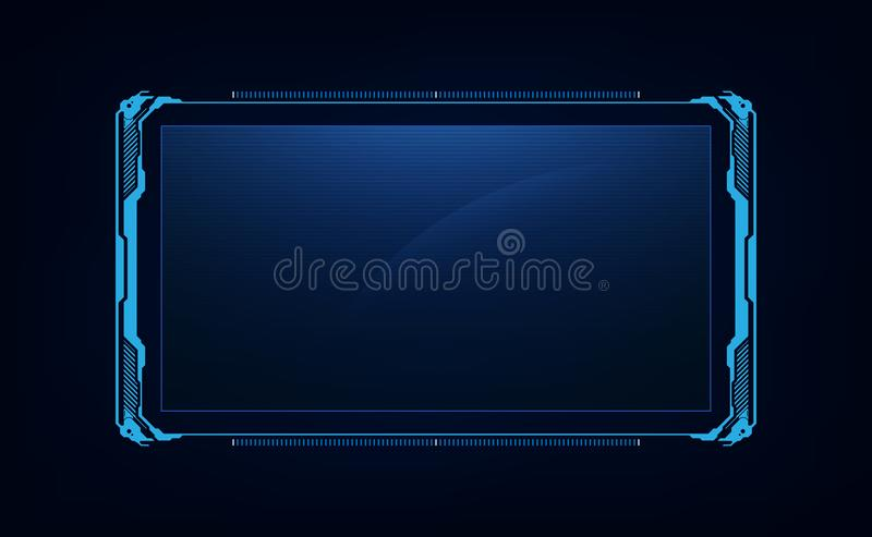 Abstract hud ui gui future futuristic screen system virtual design royalty free illustration