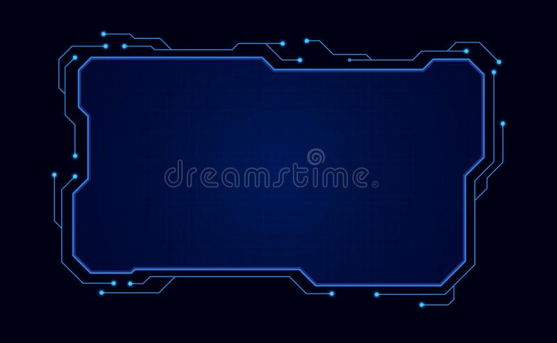 Abstract hud ui gui future futuristic screen system virtual design. vector illustration eps10 royalty free illustration