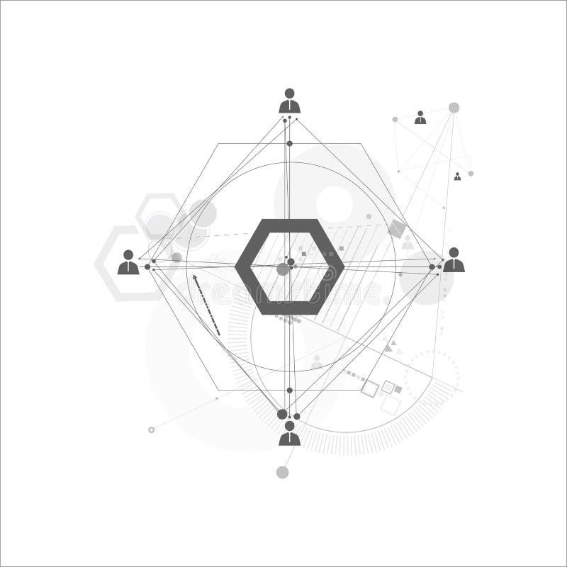 Abstract human connection. Abstract human connection on the white background royalty free illustration
