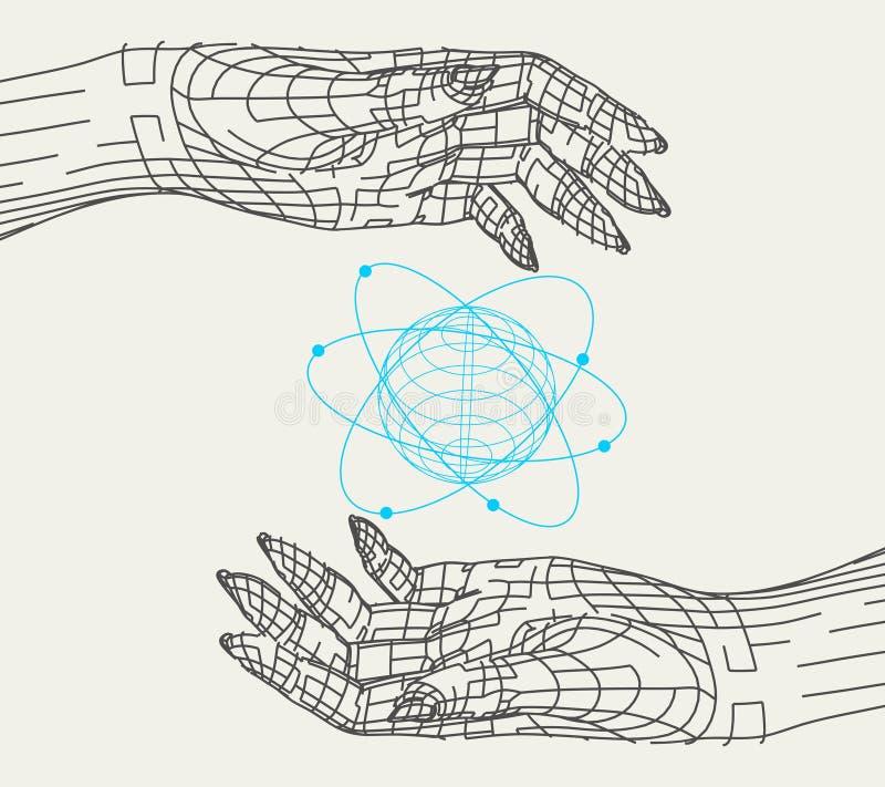 Abstract human hands stock illustration