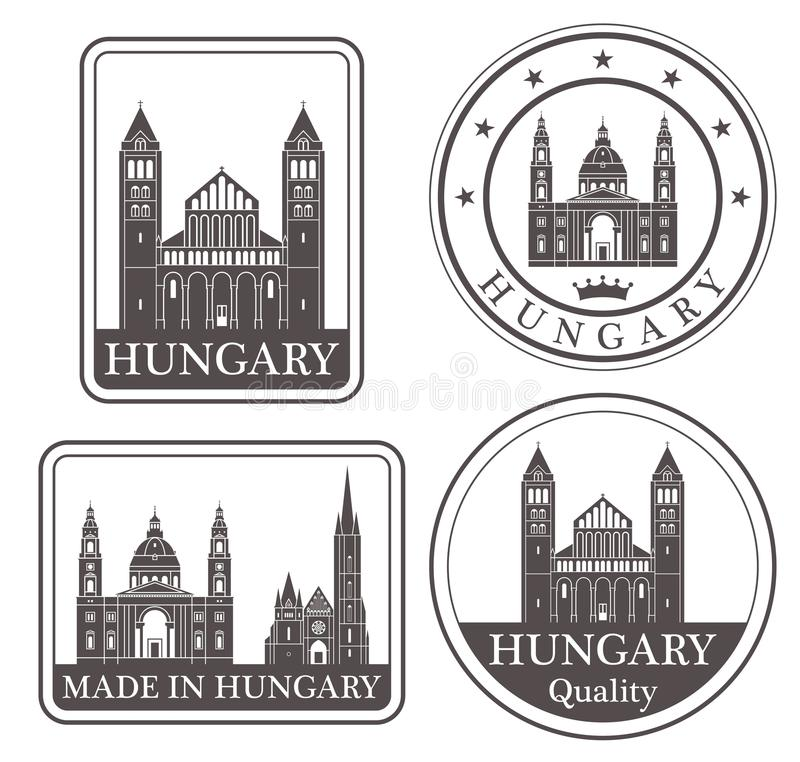 Abstract Hungary vector illustration