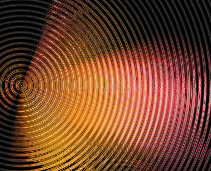 Abstract hypnotic background vector illustration