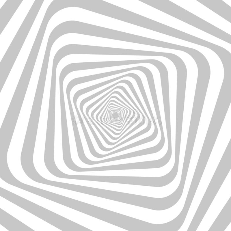 Abstract hypnotic background for your design. Optical illusion of movement of space distortion. royalty free illustration