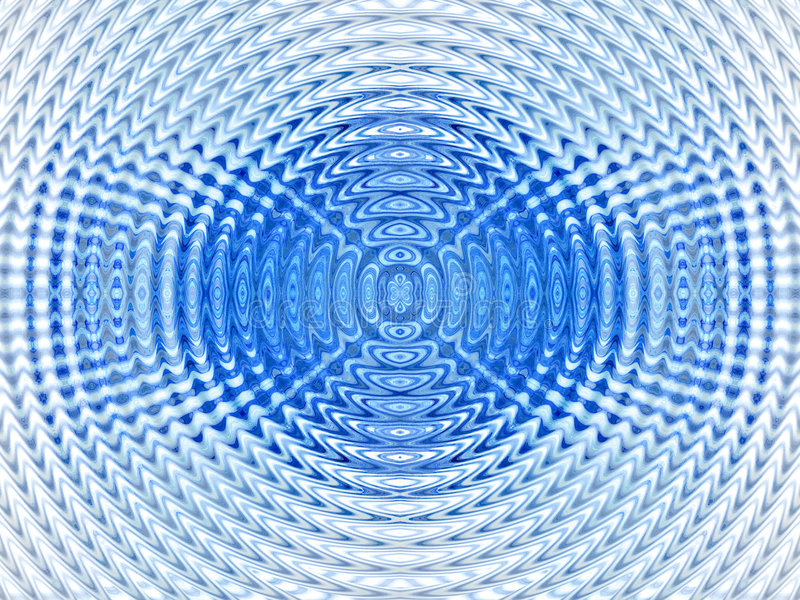 Abstract hypnotic blue background vector illustration