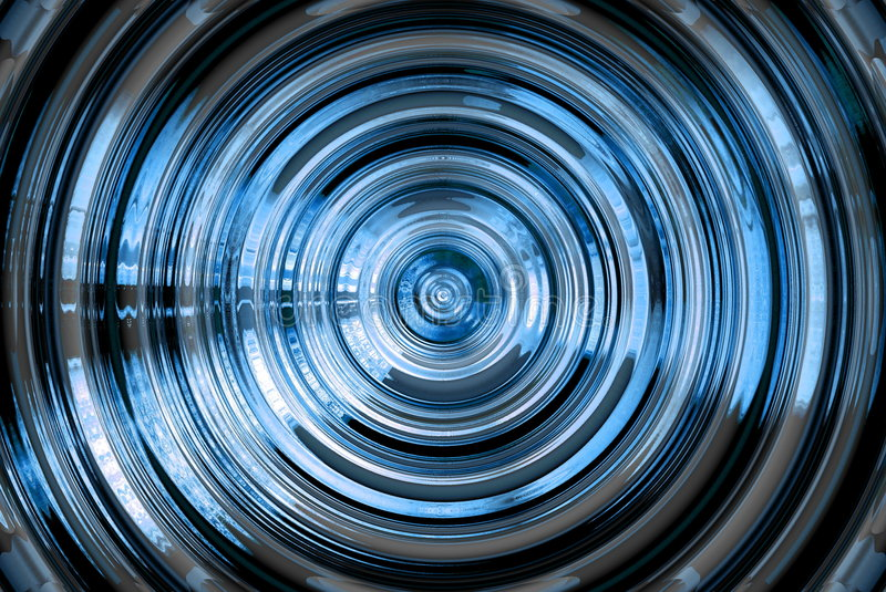 Abstract hypnotic blue background stock illustration