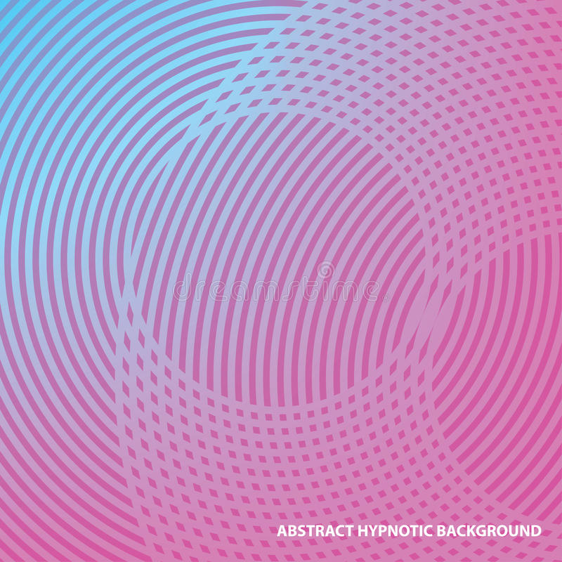 Abstract hypnotic line background. Use as a cover, card, brochure, web design. royalty free illustration