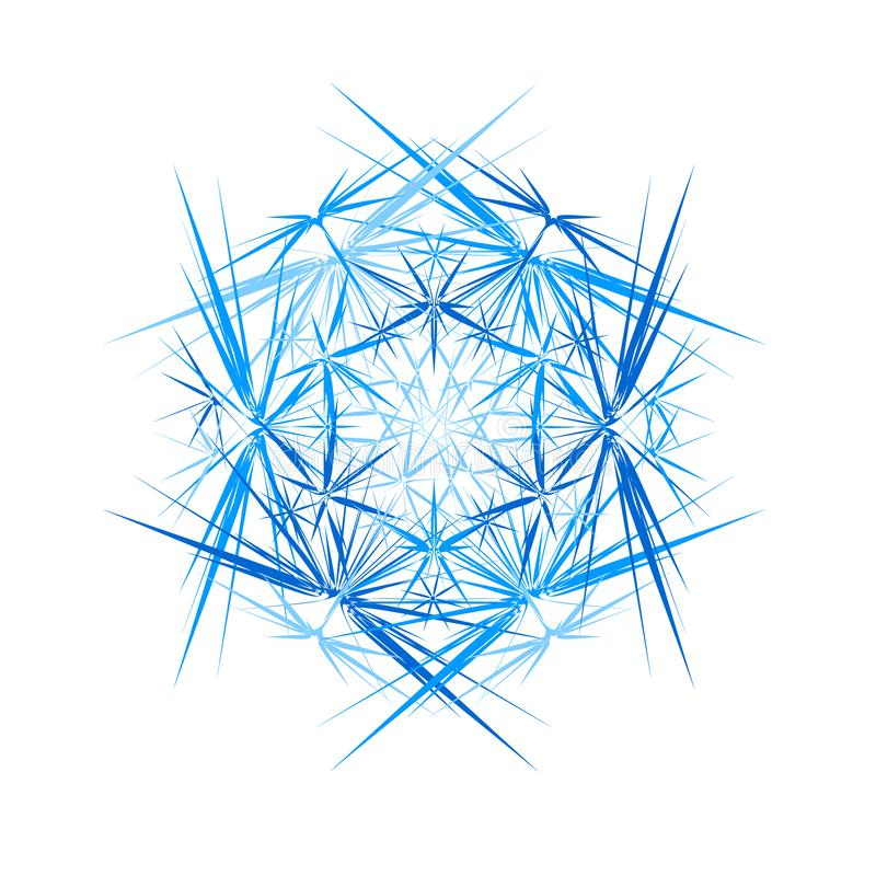Free Abstract Ice Crystal. Thorns Round Abstraction. Vector Royalty Free Stock Photo - 135530315