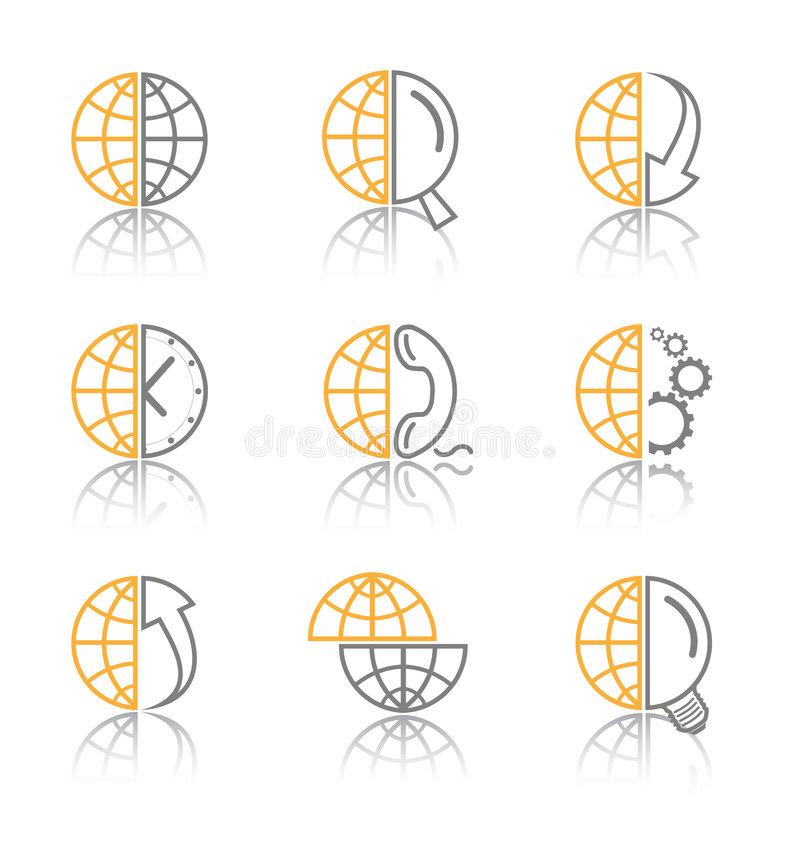 abstract icons internet vector 皇族释放例证