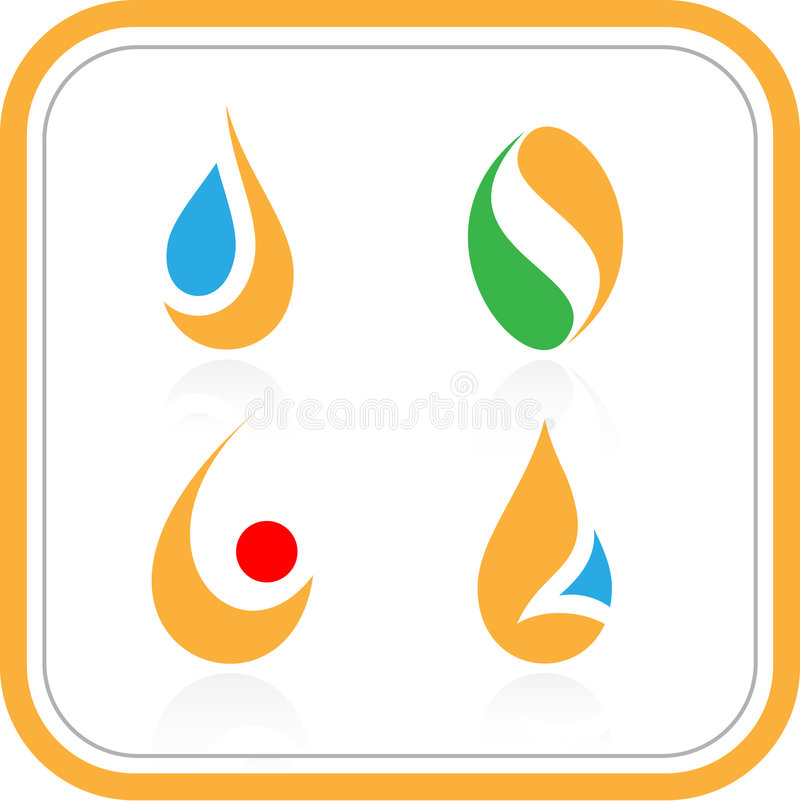 abstract icons internet vector 库存例证