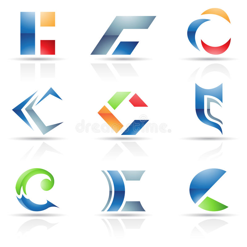 Abstract icons for letter C. Vector illustration of abstract icons based on the letter C vector illustration