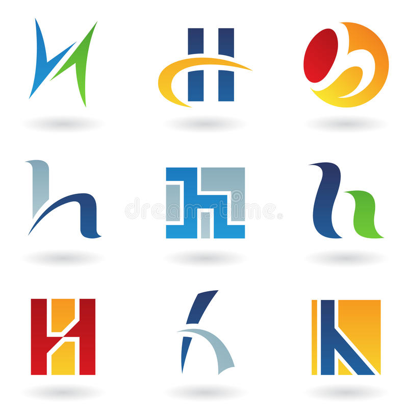Abstract icons for letter H royalty free illustration