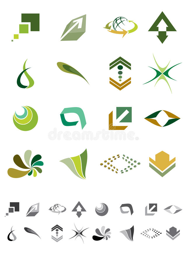 Download Abstract icons - Pack 2 stock vector. Illustration of modern - 30560247