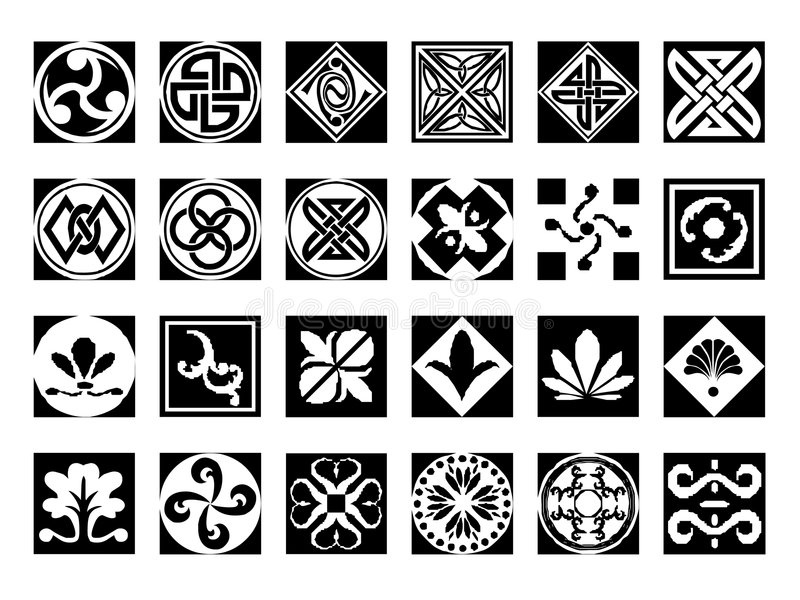Download Abstract icons set #9 stock illustration. Image of square - 3032451