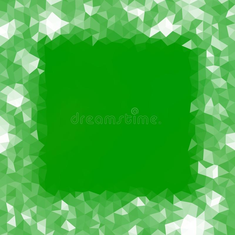 White green abstract icy lowpoly frame background reminiscent winter cold atmosphere vector illustration