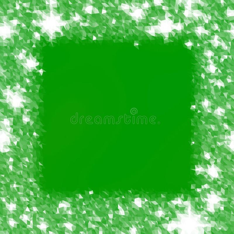 Abstract icy lowpoly green white background reminiscent winter cold atmosphere stock illustration