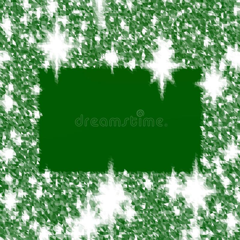 Abstract white green icy lowpoly background reminiscent winter cold atmosphere stock illustration