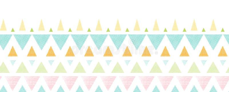 Abstract ikat triangles stripes horizontal royalty free illustration