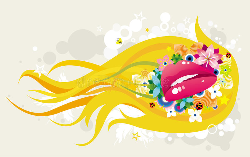 Abstract illustrated design royalty free illustration
