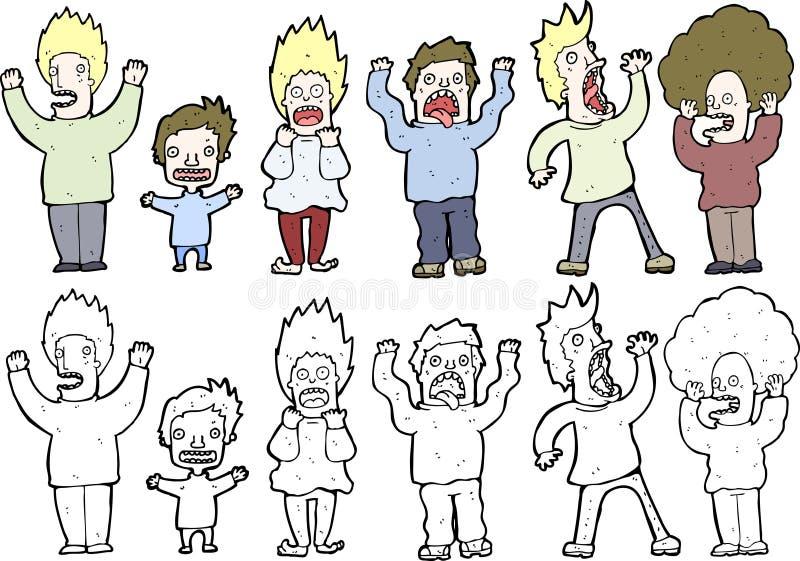 Cartoon Illustrated People Stock Photo