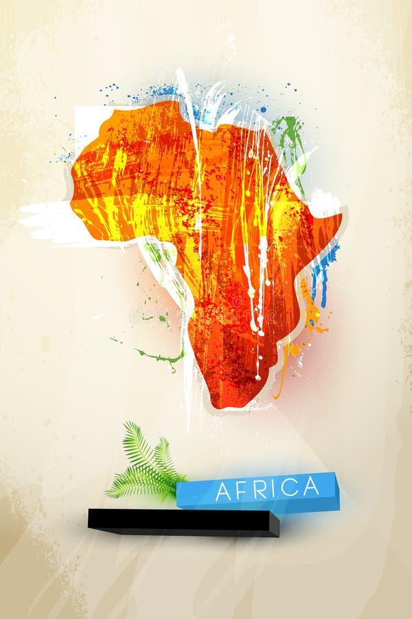 Abstract illustratiecontinent Afrika stock illustratie