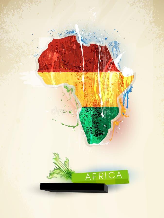 Abstract illustratiecontinent Afrika vector illustratie