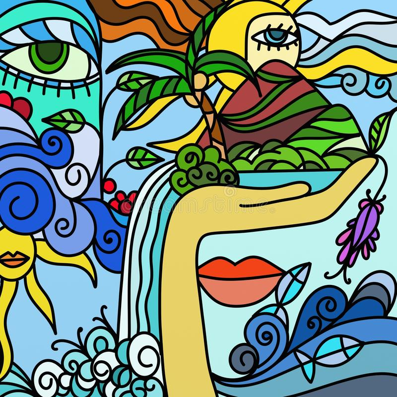 Abstract illustration stock illustration