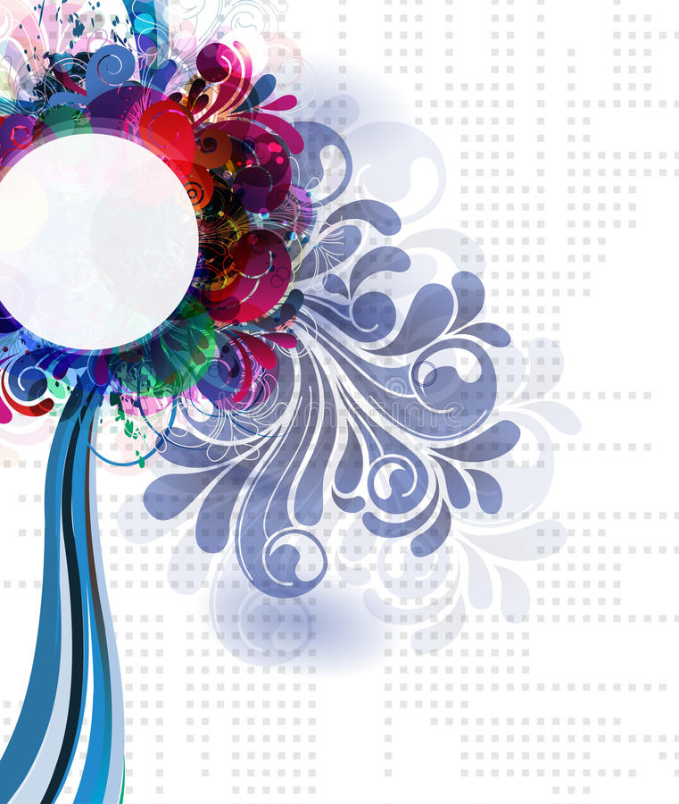 Abstract illustration. Vector colorful abstract illustration floral stock illustration