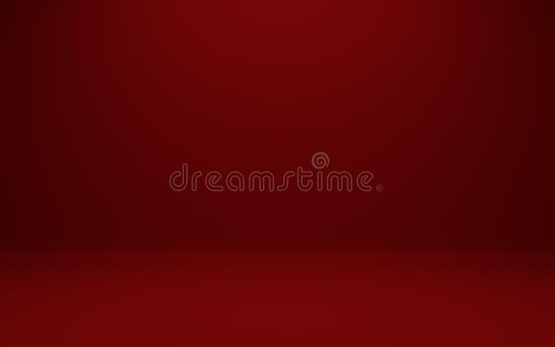 Abstract illustration background texture of dark and light clear red, azure, cyan and turquoise gradient flat wall and floor in em. 3D illustration of Abstract stock illustration