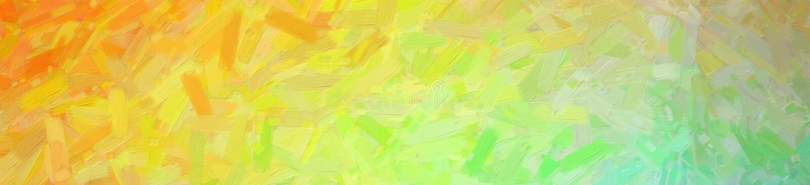 Abstract illustration of blue green orange Abstract Oil Painting banner background, digitally generated. Abstract illustration of blue green orange Abstract Oil royalty free stock photography