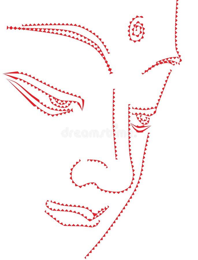 Abstract illustration of Buddha. Eps file royalty free illustration