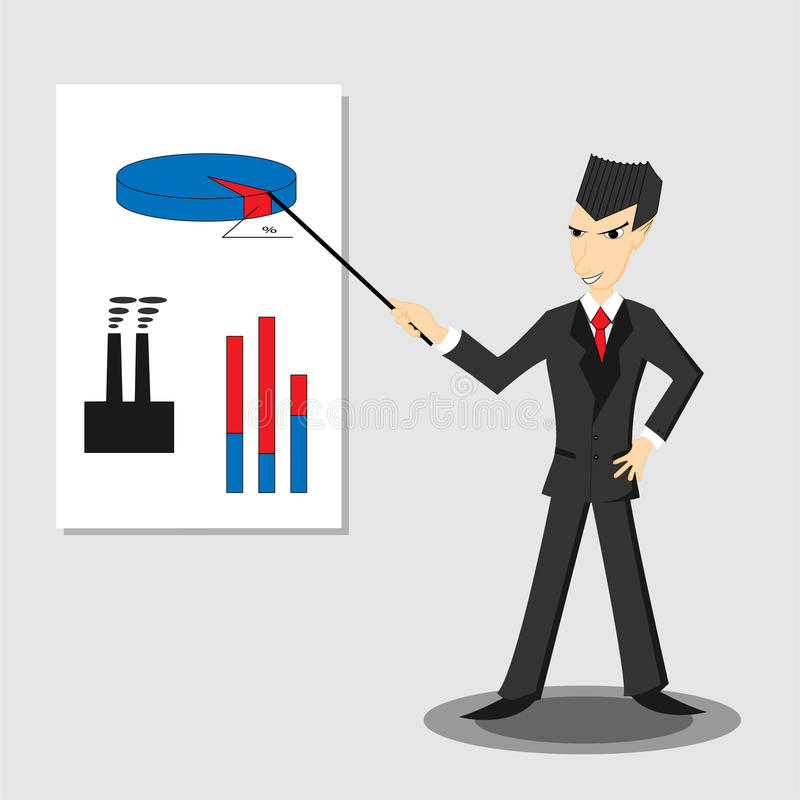 Abstract illustration of businessman stock photography