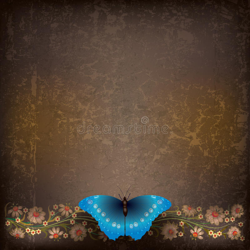 Download Abstract Illustration With Butterfly And Flowers Stock Vector - Image: 20122633