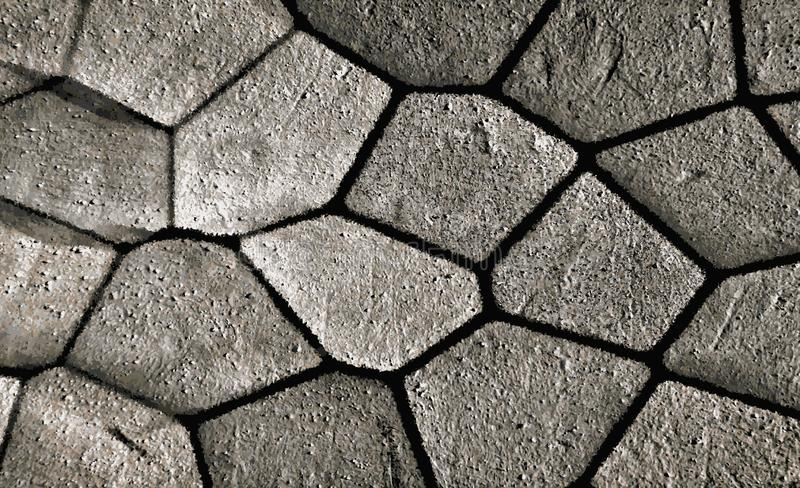 Rough gray stone wall texture. royalty free stock image