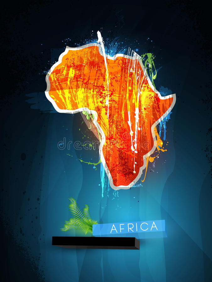 Abstract illustration continent Africa vector illustration