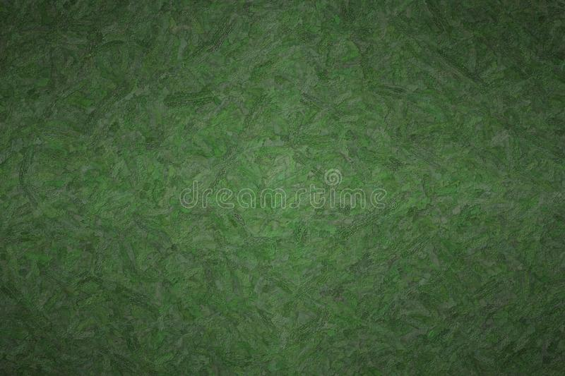 Abstract illustration of Dark Jungle Green Textured Impasto background, digitally generated. Abstract illustration of Dark Jungle Green Textured Impasto stock image