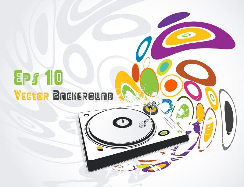Abstract illustration of a dj-mixer,