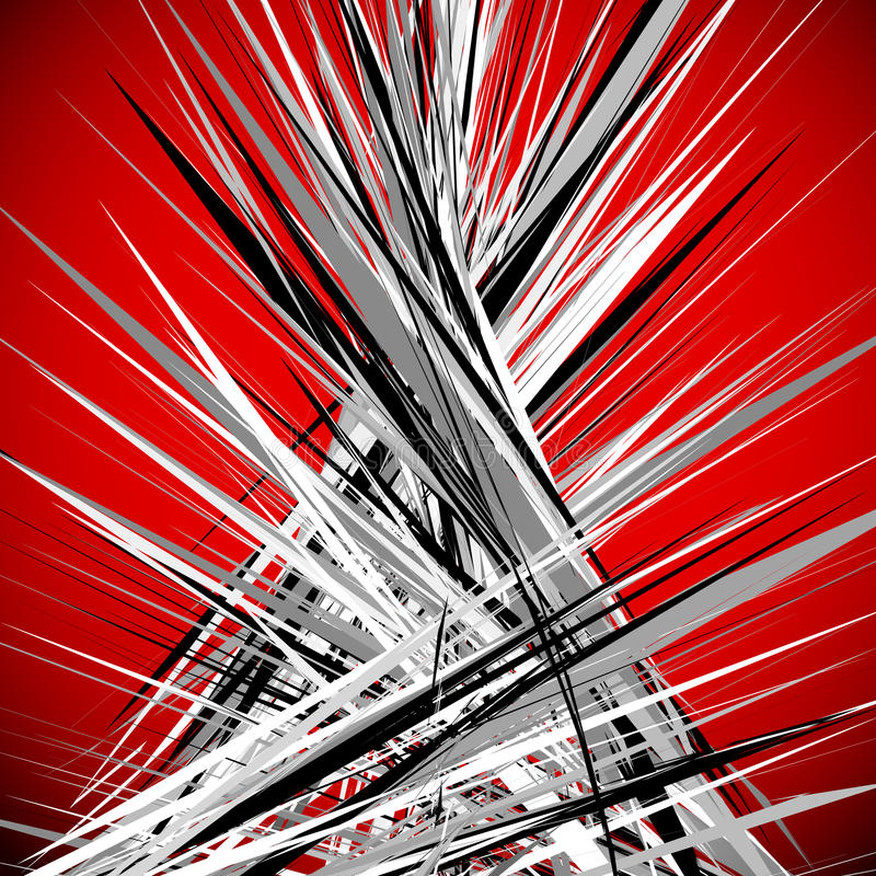 Abstract illustration with dynamic grungy lines. Textured red pa. Ttern digital art - Royalty free vector illustration vector illustration