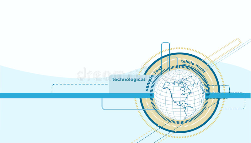 Abstract illustration of earth stock illustration