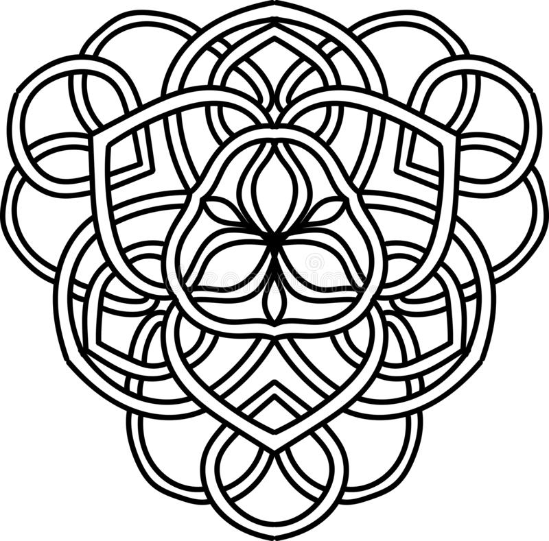 Abstract illustration. Element for design with celtic motifs vector illustration