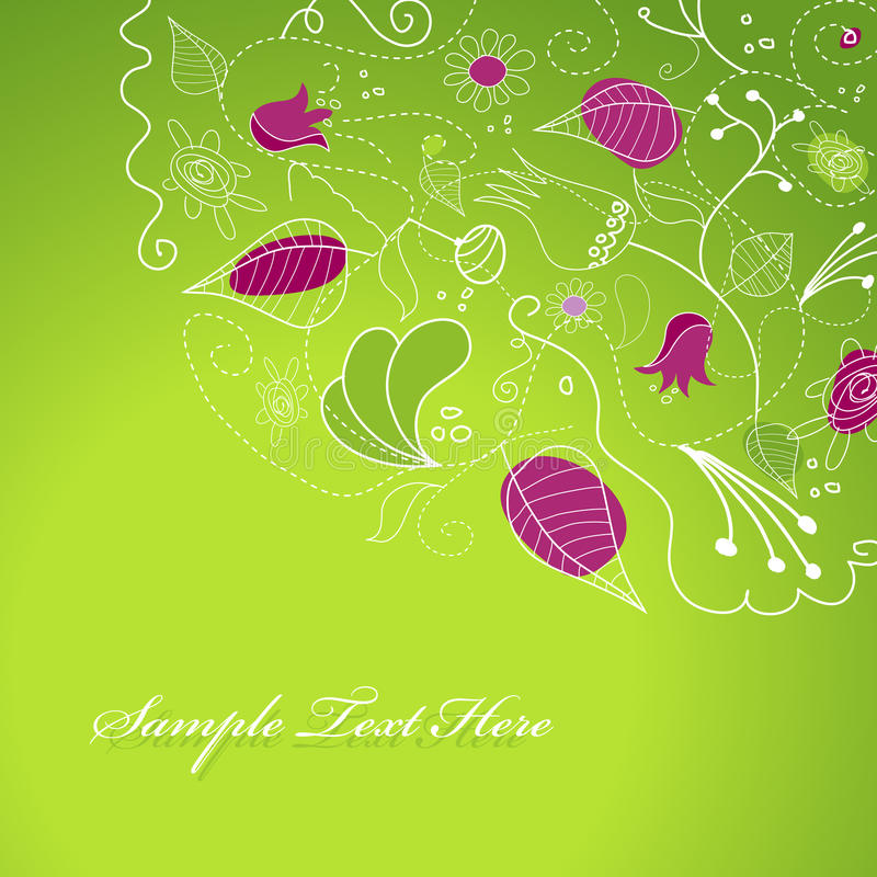 Abstract illustration with flowers. Vector art vector illustration